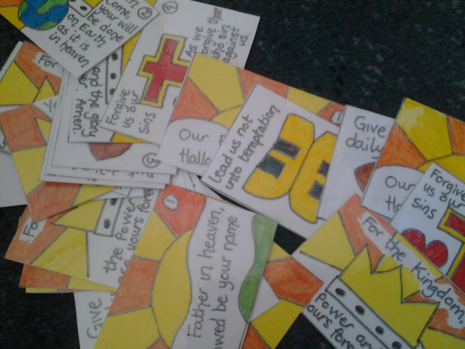 Flame Creative Childrens Ministry Lords Prayer Cards