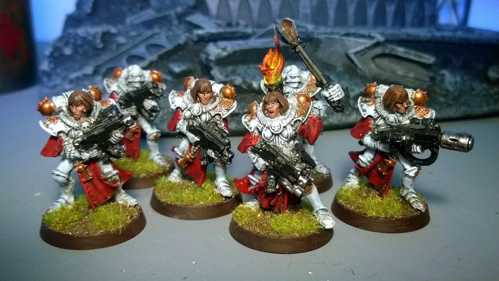 sisters of battle celestians white red colour scheme