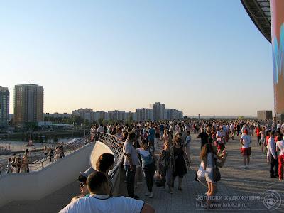 Вид на балкон стадиона Казань-арена