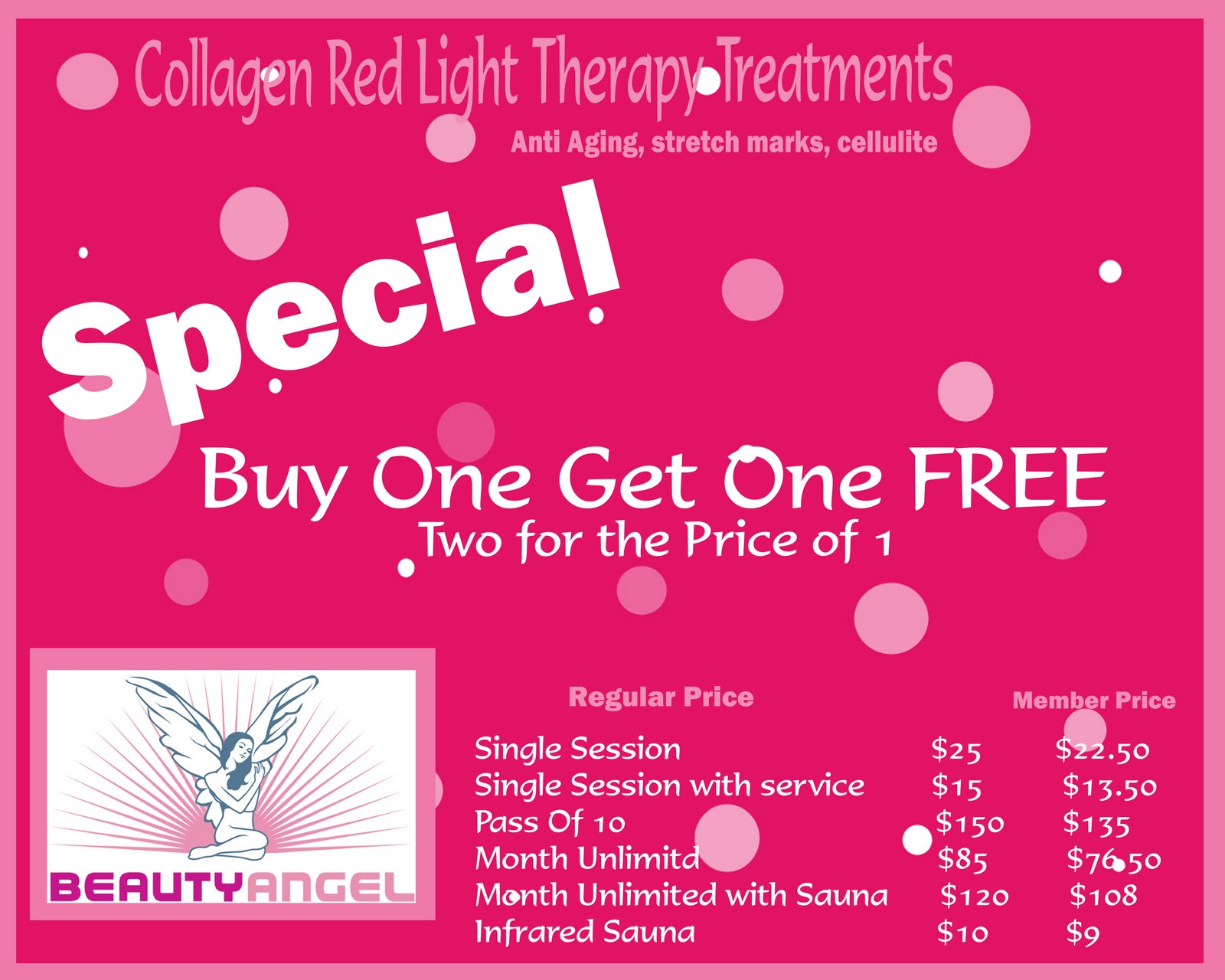 Seasons Salon and Day Spa e Try our Collagen Booth Red