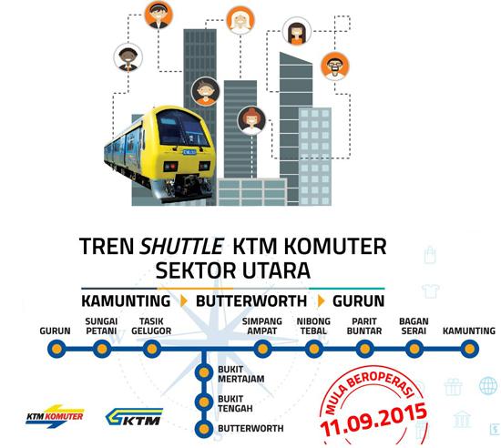 Jadual Tambang Tren Shuttle Komuter Utara