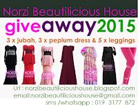 Norzi Beautilicious House blog giveaway abaya jubah