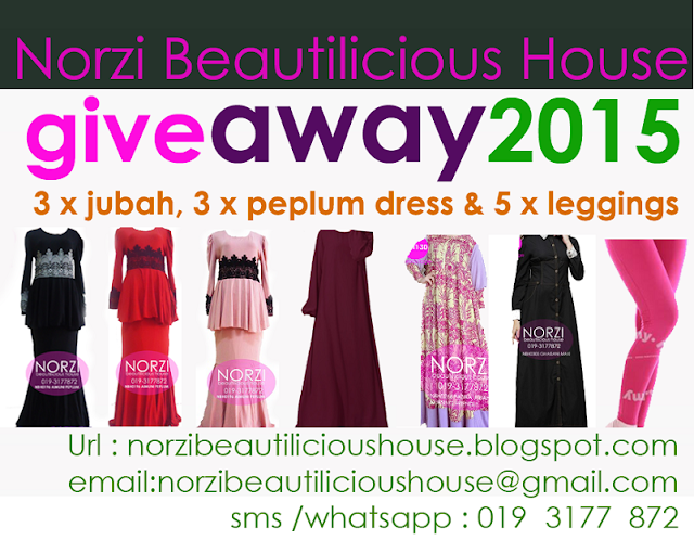 Norzi Beautilicious House blog giveaway abaya jubah