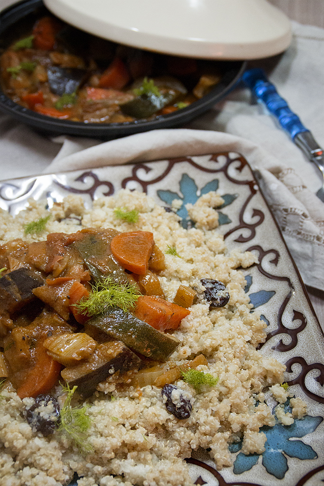 Cuscus de quinoa y coliflor con verduras dvicio - Cocinar quinoa con verduras ...