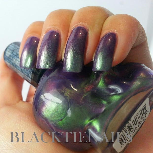 black tie nails blackheart beauty