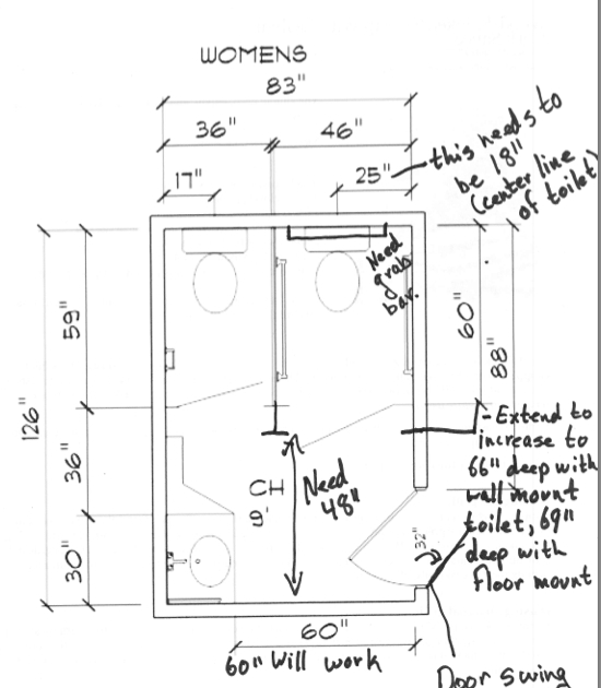 Non Ada Bathroom ada: how to convert a standard public bathroom into an ada