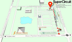 Map to SUPERCIRCUIT EXHAUST PRO SHOP