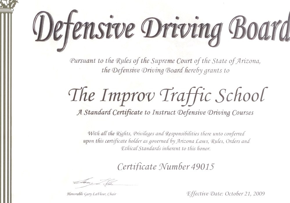 Defensive Driving Defencive Driving Course