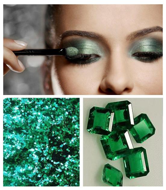 Maquiagem para combinar com vestido verde esmeralda