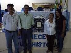 Prof. José Antônio, Adailton, prof. Verônica Nunes e a Profª Ana Luzia