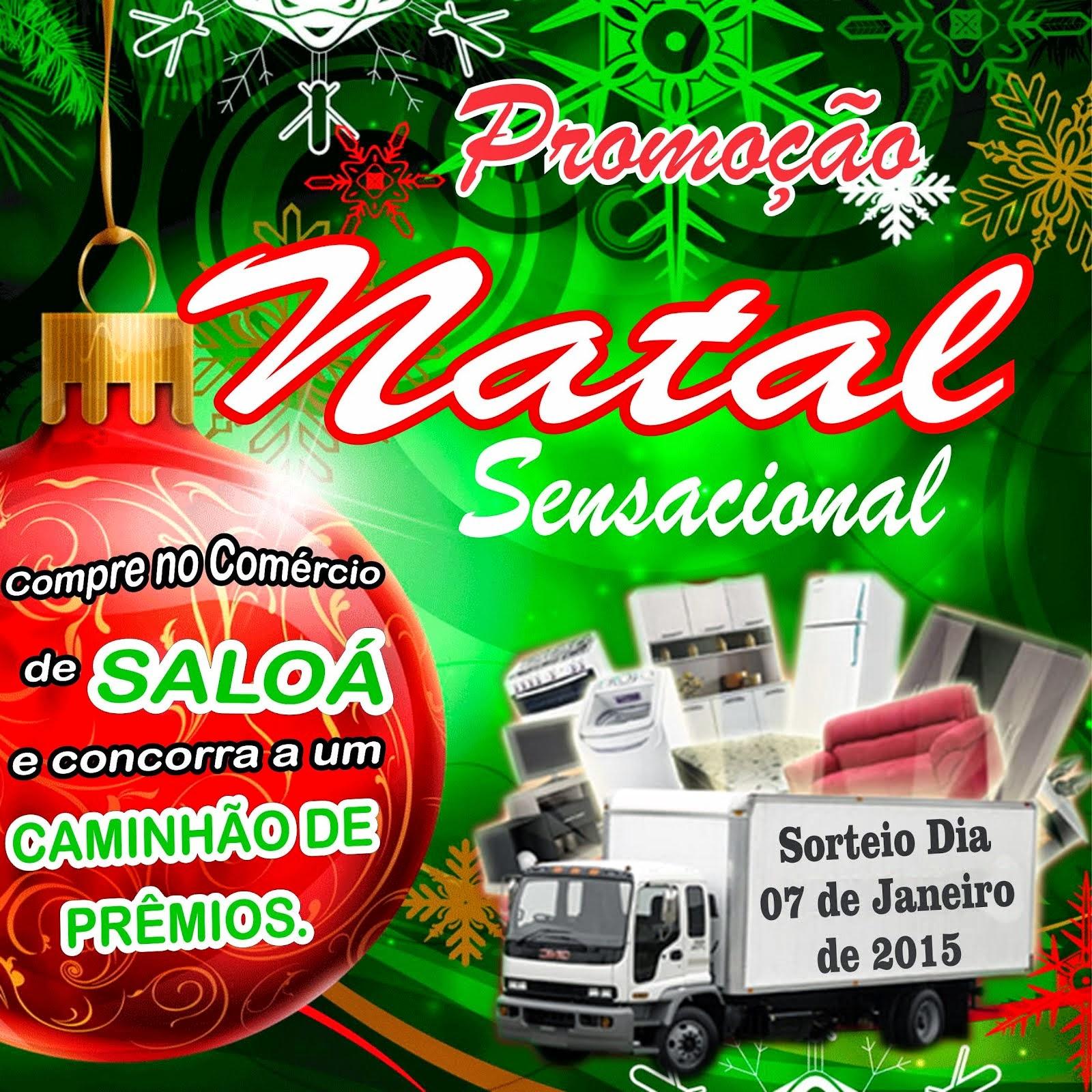 Slogan da promoção Natal Sensacional de Saloá.