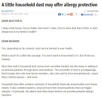 Household Dust and Allergy Protections