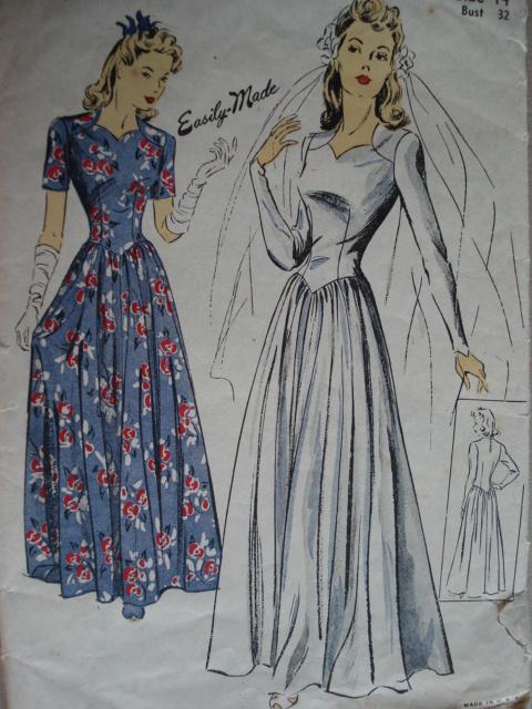The wedding blog designer so vintage patterns for 1940s wedding dress patterns