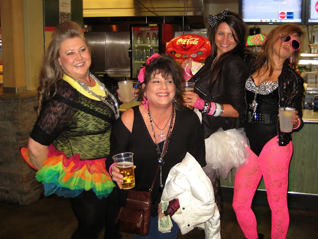 More sexy ladies in 80s gear at the Madonna concert