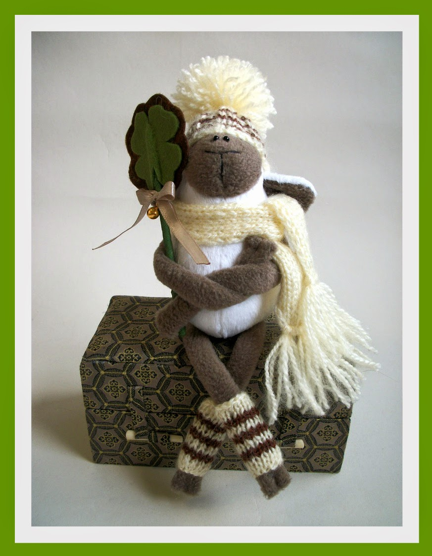 овечка игрушка хендмейд, символ 2015
