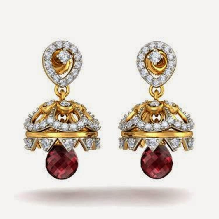 free download hd wallpapers latest gold jhumka earring