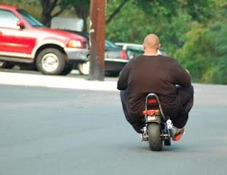 Gordo na moto