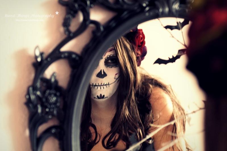 Dia De Los Muertos Makeup Sugar Skull Kostüm