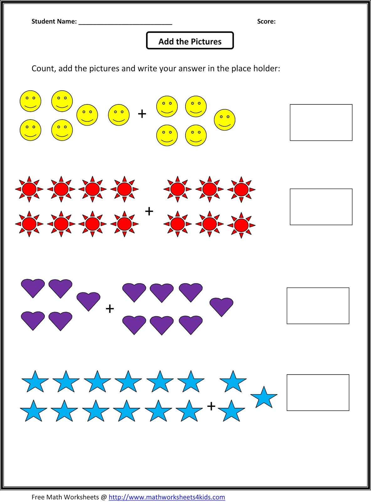 worksheet Free Math Worksheets For 1st Grade worksheet math sheets for 1st grade mikyu free one maths worksheets 1000 images about board
