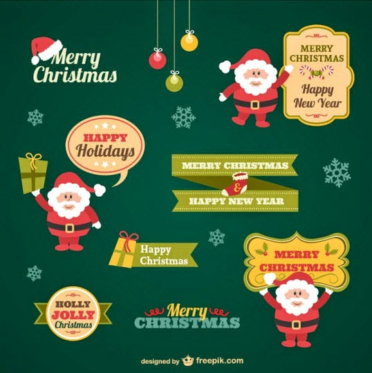 Vintage Christmas stickers collection