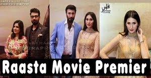Celebrities at the Premier of Pakistani Movie Raasta