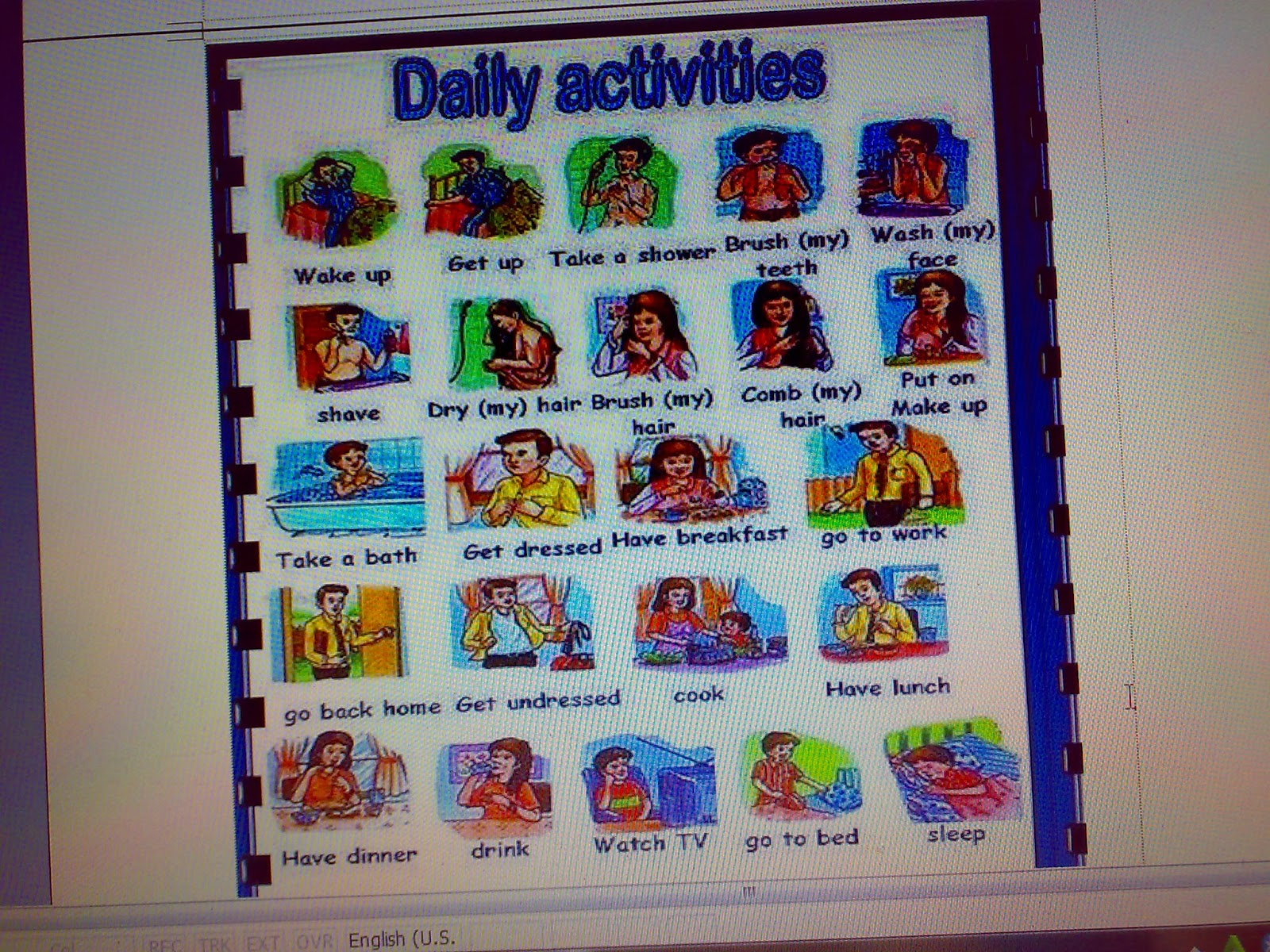 Lesson Plan About Daily Activity Kumpulan Info