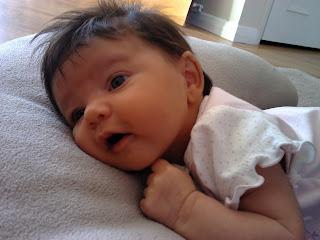 Baby on a cushion