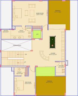 Golf Country, Yamuna Expressway :: Floor Plans,Golf Villa (325 sq. yd.):- Second Floor Plan Plot Area: 1649.36 Sq. Ft.