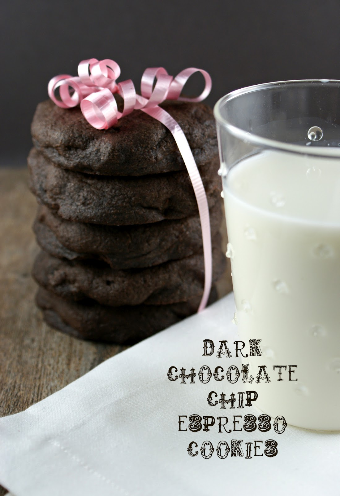 Authentic Suburban Gourmet: Dark Chocolate Chip Espresso Cookies