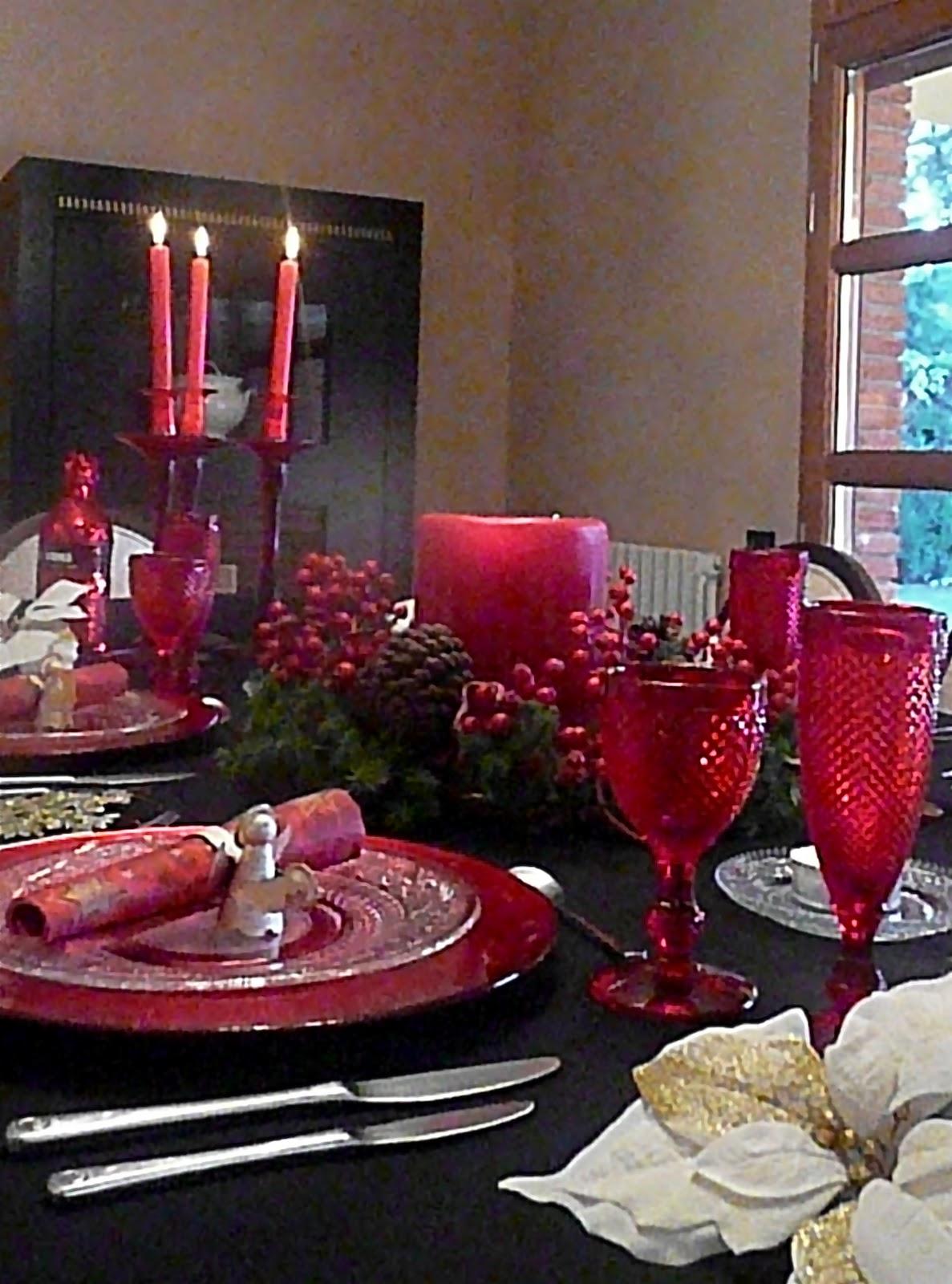 D Corandluxe Mesa Roja Por Navidad ~ Decoracion Navidad Corte Ingles