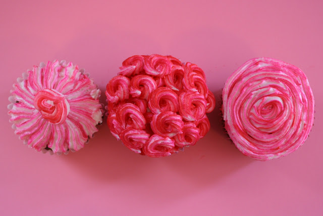 pink Valentine's Day Cupcakes