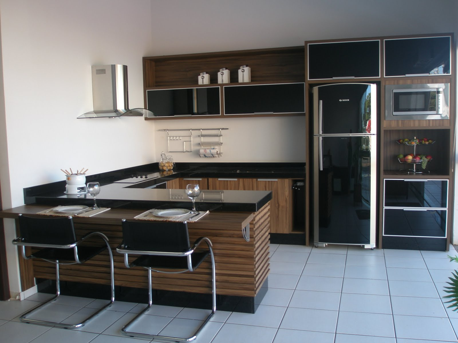 Mirai Planejados: Cozinha planejada #466485 1600x1200 Bancada Banheiro Vermelha