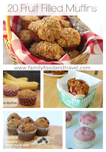 20 Fruit Filled Muffins | www.familyfoodandtravel.com