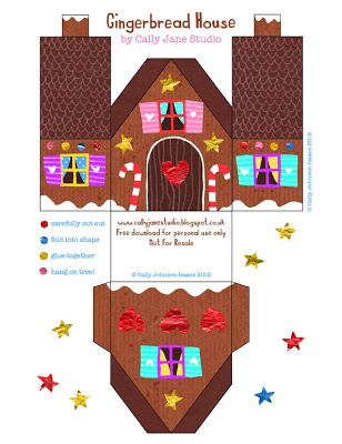 Playful image within gingerbread house printable