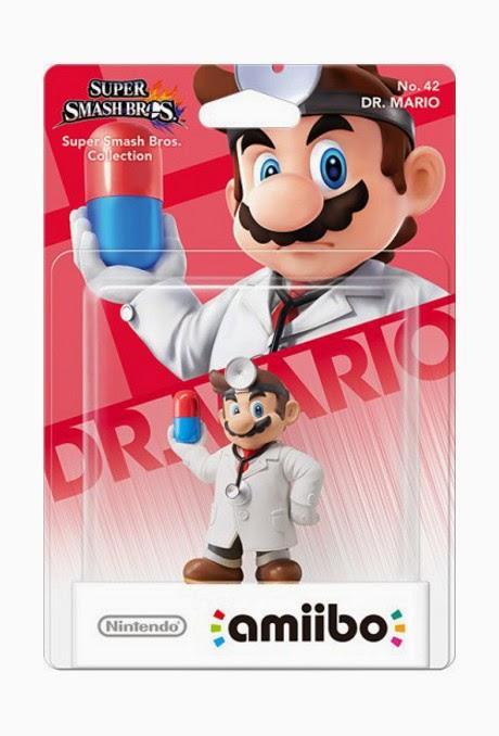 JUGUETES - NINTENDO Amiibo  42 : Figura Doctor Mario | Dr. Mario   (Julio 2015) | Videojuegos | Muñeco | Super Smash Bros Collection  Plataforma: Wii U & Nintendo 3DS