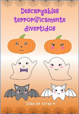 halloween scrap postal movimiento descargable freebies
