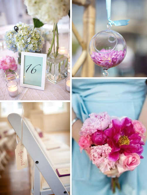 Wedding Decorations Blue And Pink : Gallery for gt pink and light blue wedding colors