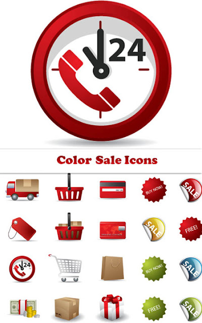 Colored Sale Icons