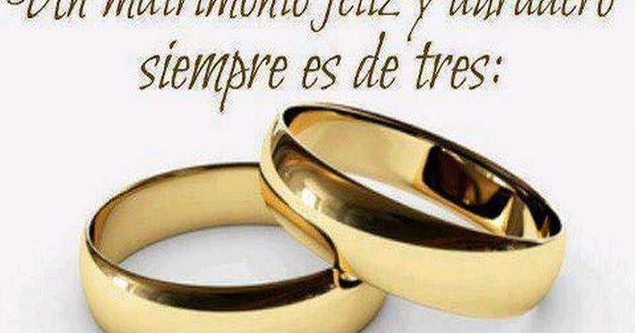 Matrimonio In Cristo : Un matrimonio feliz y duradero siempre es de tres dios