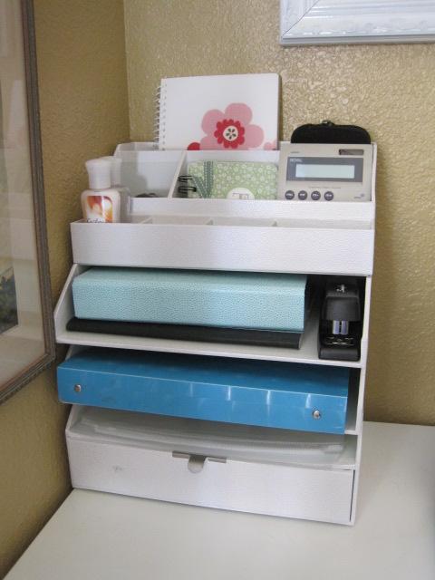 Cherished treasures day 8 craft room desk organizing - Martha stewart desk organizer ...