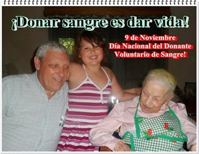 """""""9 de Noviembre Día Nacional del Donante Voluntario de Sangre"""""""