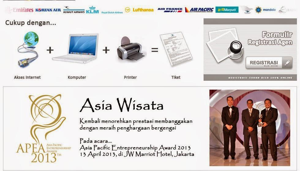 Bisnis Rumahan, Menjadi Agen TIket Asia Wisata DI Rumah Sendiri