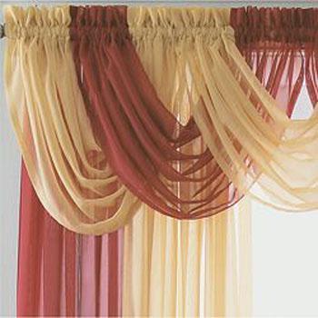 Como hacer cenefas para cortinas imagui for Cortinas blancas para sala
