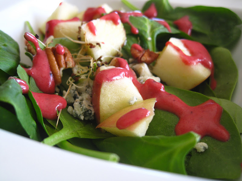Apple, Pecan, And Blue Cheese Salad With Dried Cherries Recipe ...