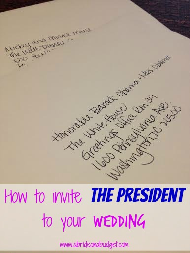 inviting the president to your wedding