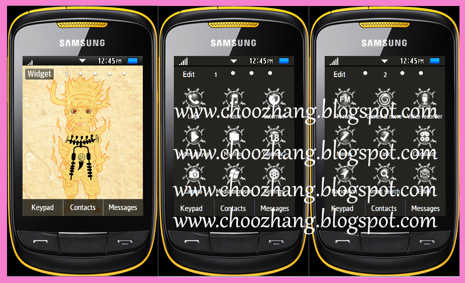 ChooZhang - Corby Cat: Samsung Corby 2 or S3850 - Naruto Shippuden ...