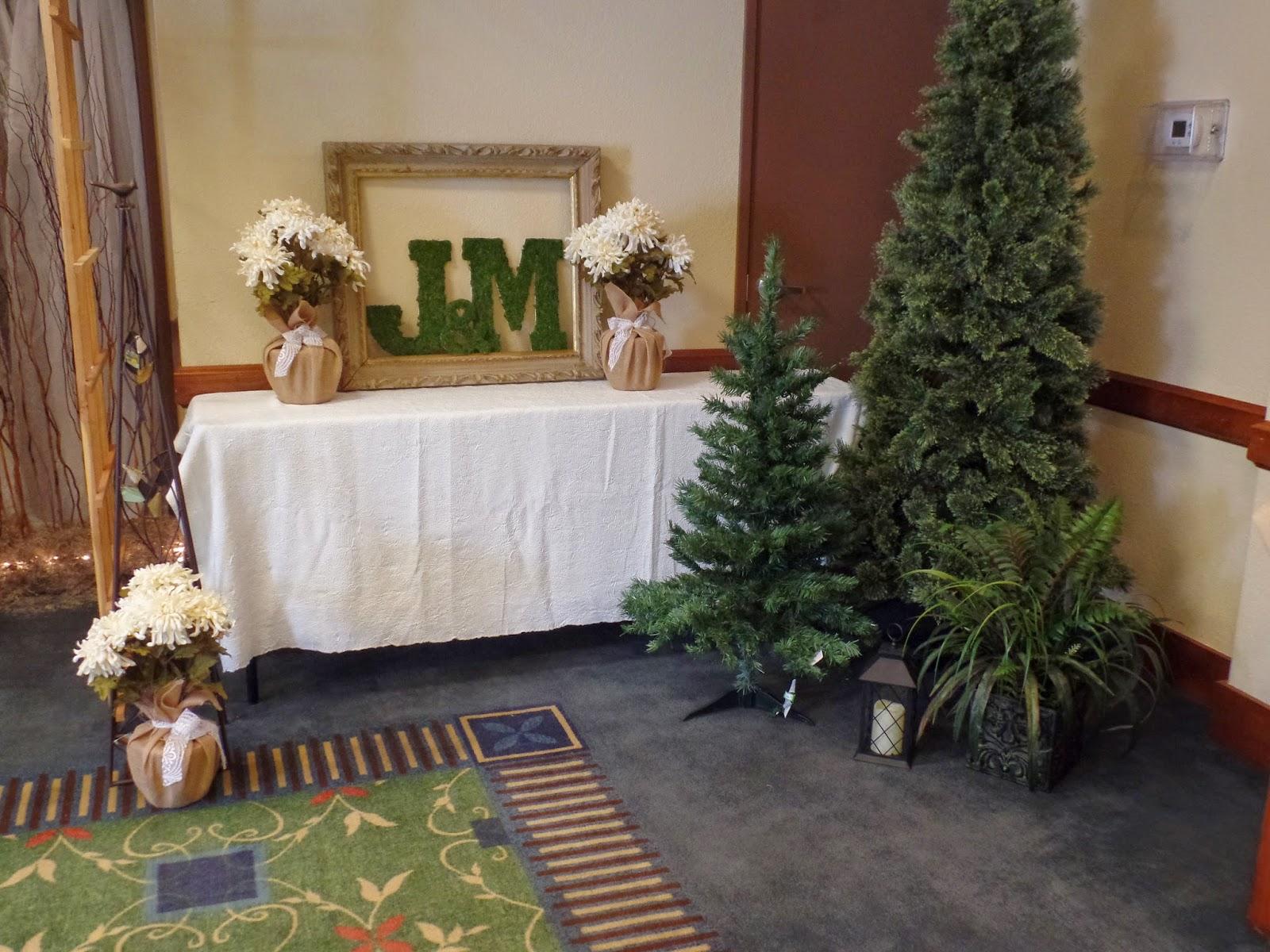 woodsy indoors wedding