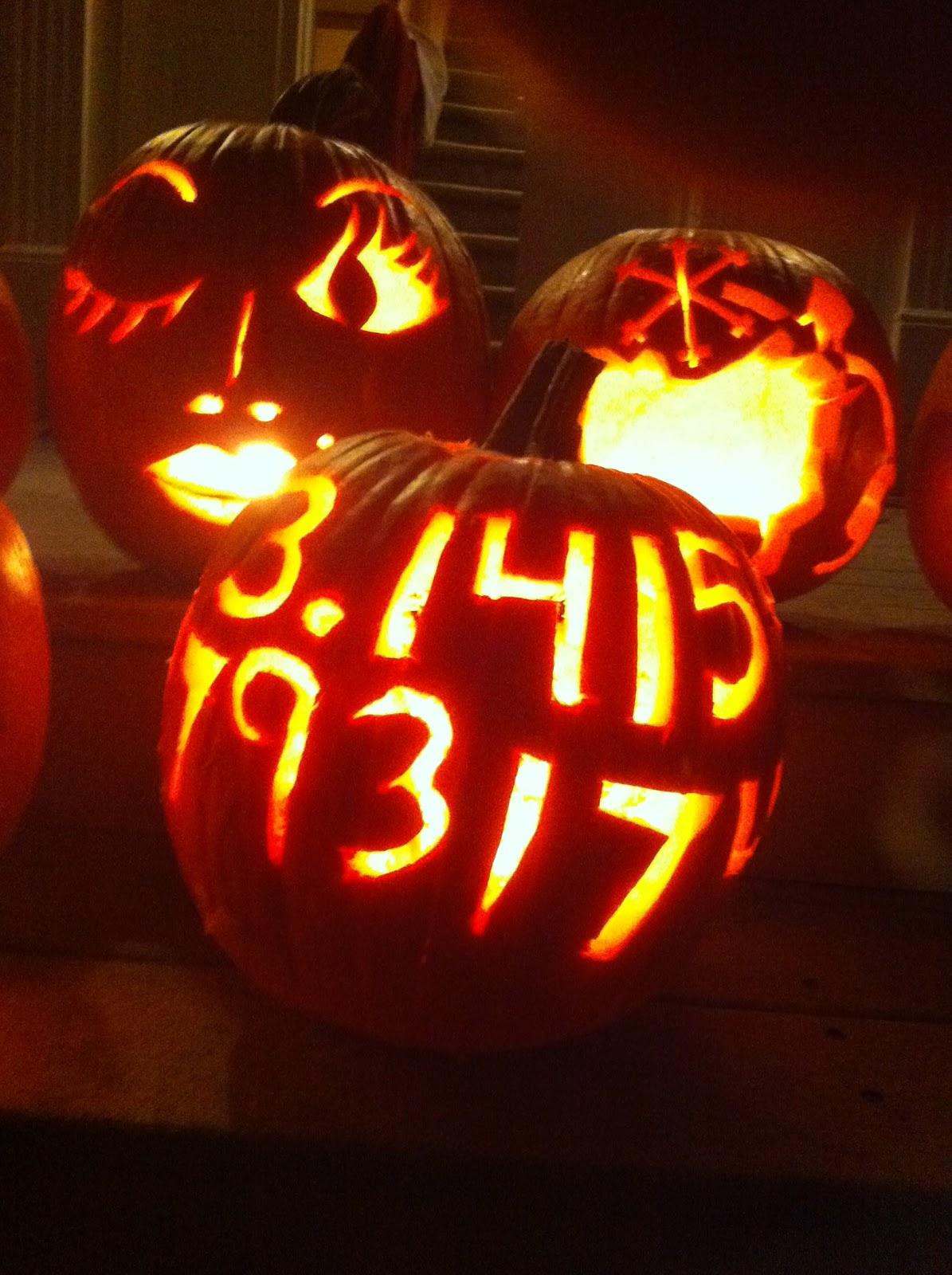 Williams college nordic ski team pumpkin carving