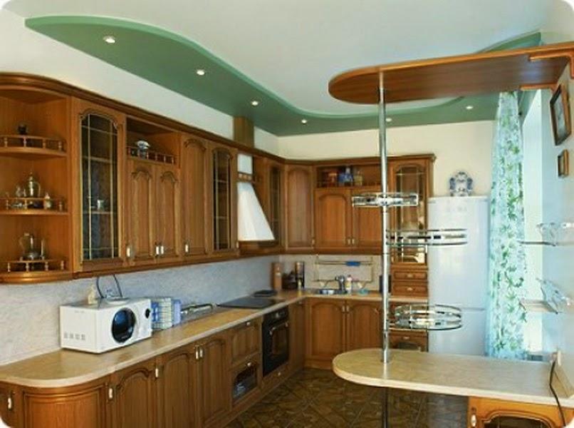 Потолок из гипсокартона своими руками на кухню