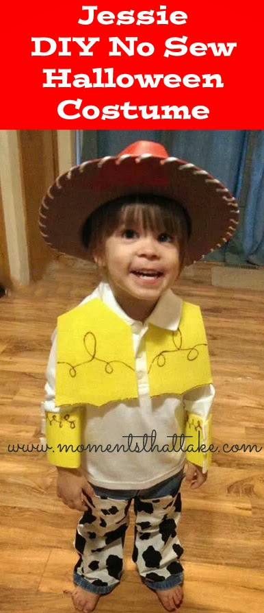 Jessie Toy Story DIY No Sew Halloween Costume Tutorial
